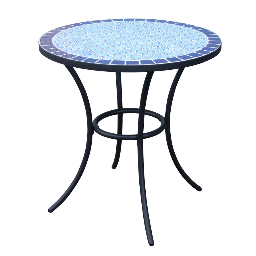 garden treasures pelham bay round dining table mosaic tile outdoor accent counter white runner ethan allen leather furniture room sets kitchen sideboard industrial coffee dresser