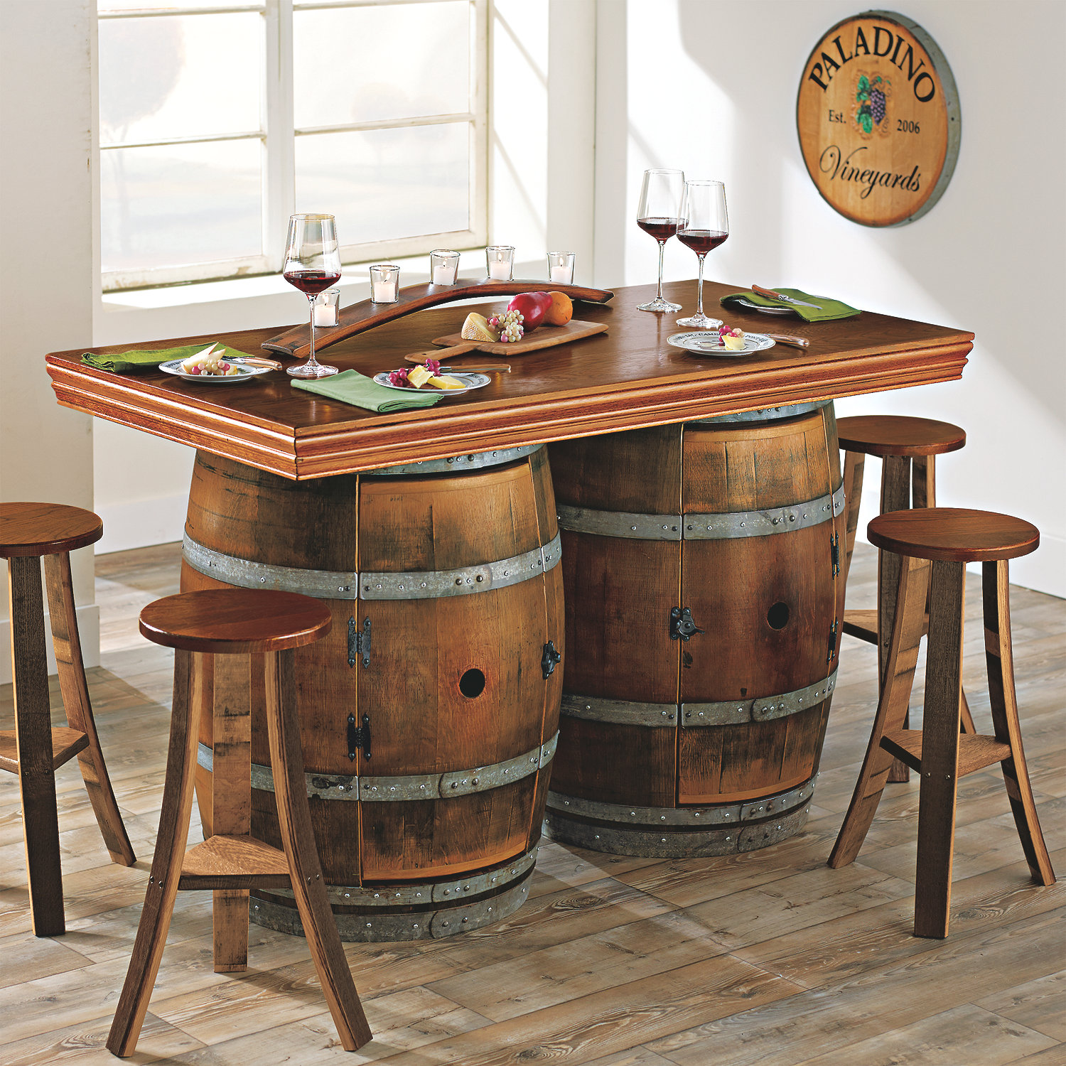garden wine accent table round chairs made from barrels where can old ideas with barrel and full size chest for bedroom hallway runners raton furniture device charging end white