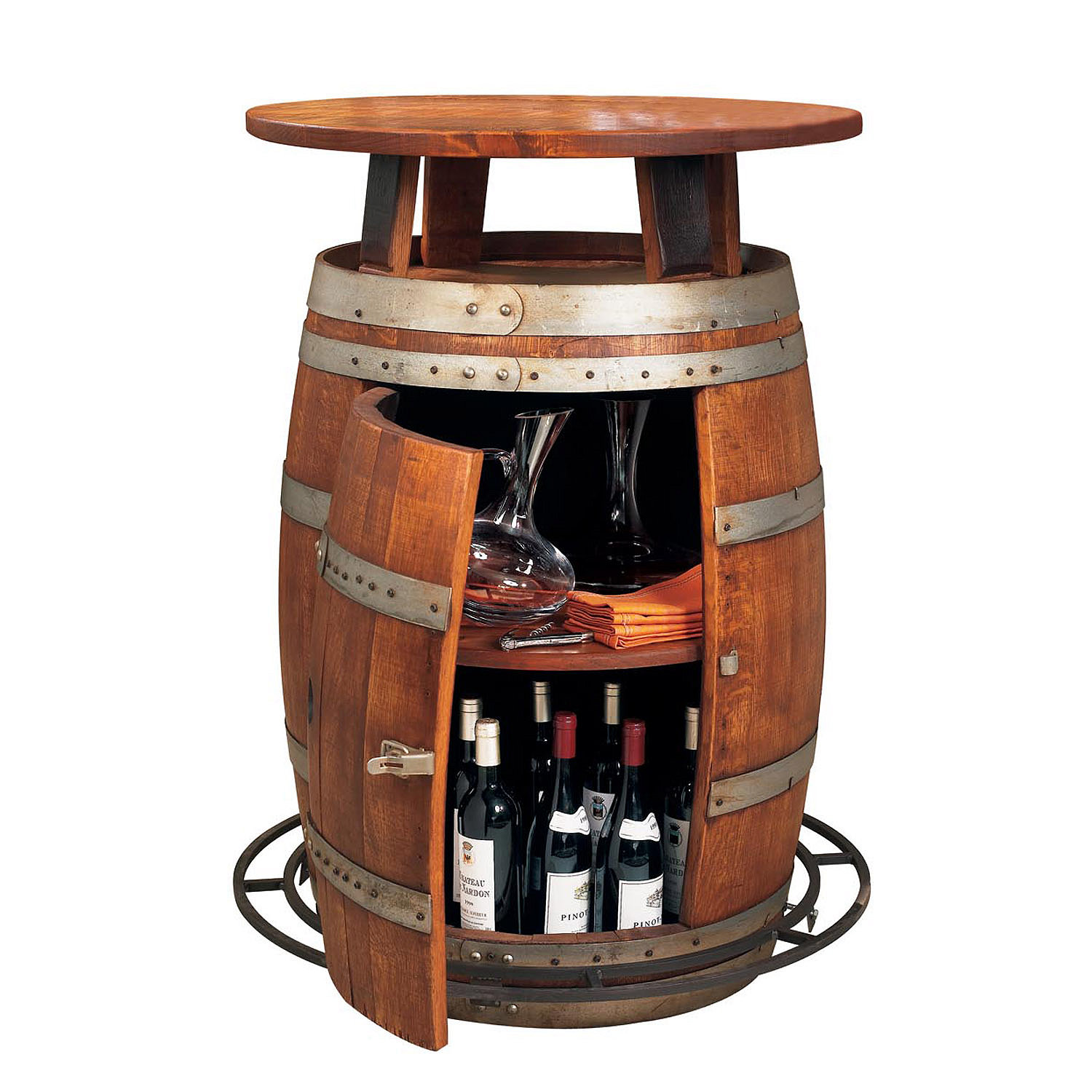 garden wine barrel furniture table ideas tables made from whiskey barrels racks out bistro accent full size dining chairs edmonton black glass coffee grill spatula narrow bedside