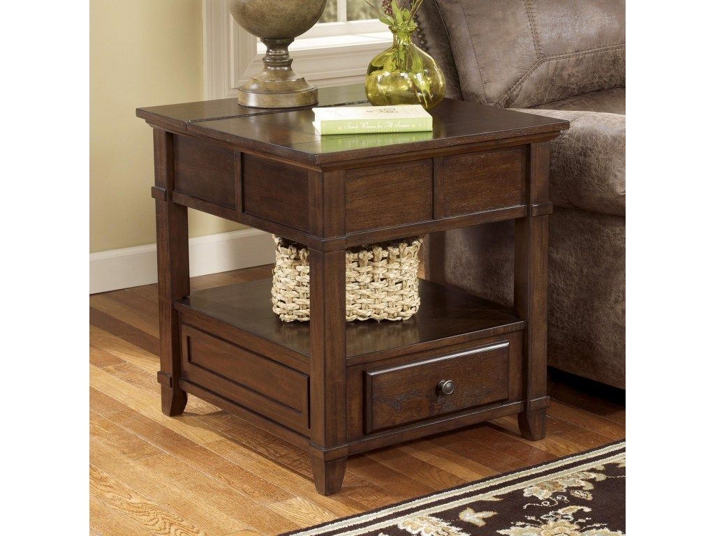 gately end table with hidden storage electrical ruby products signature design ashley color harrietta piece accent set gordon home elephant sculpture antique coffee glass top wide