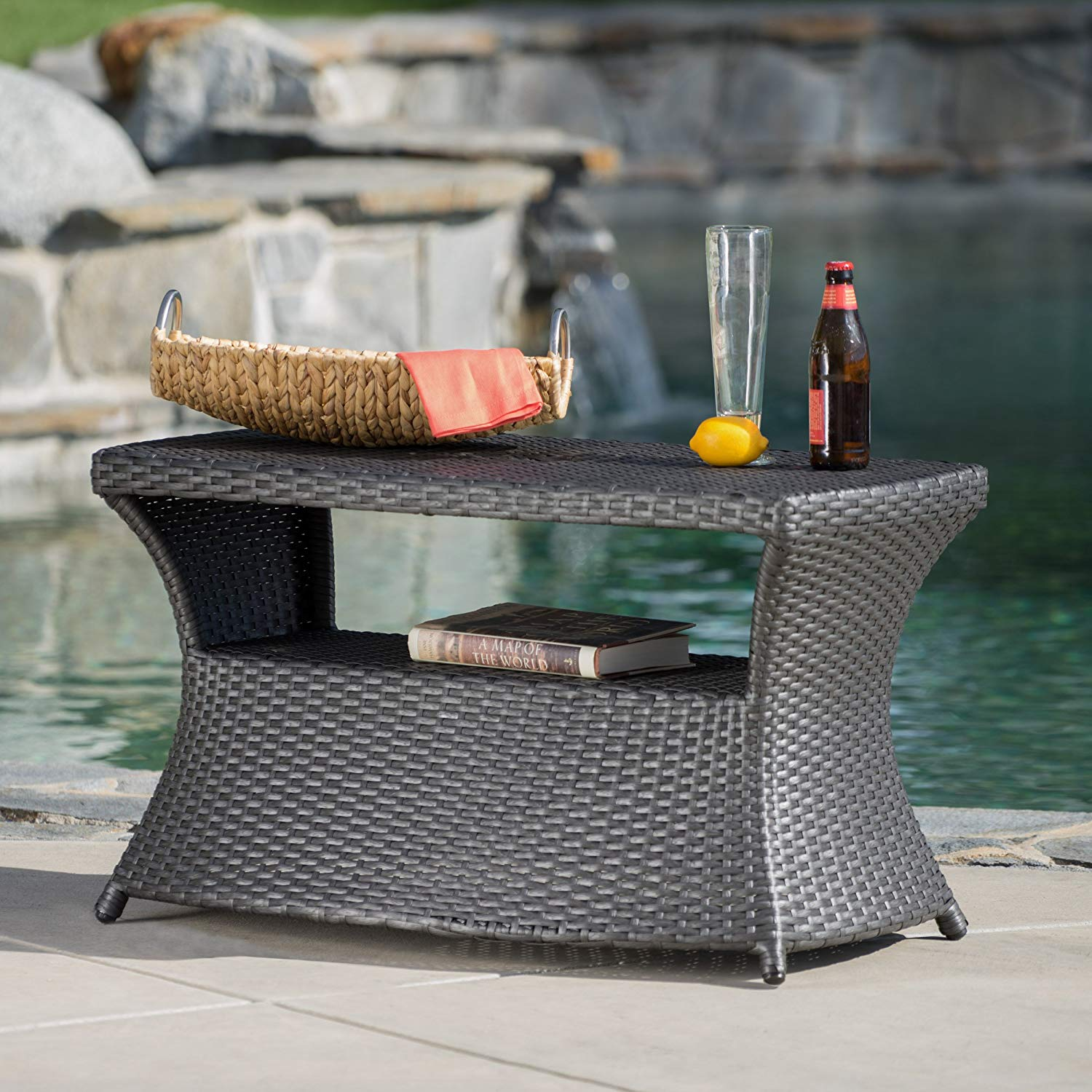 gdf studio banta outdoor wicker side table grey garden floor transitions for uneven floors coffee design ideas pier one lamps quilt runner patterns deck tables brown leather