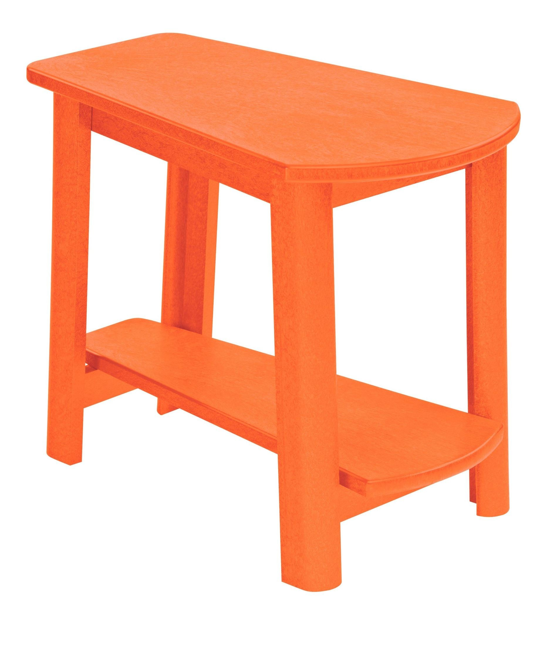 generations orange tapered accent table from plastic colorful small red drum set seat uttermost furniture end tables piece round coffee plexiglass cube hammered brass side ceramic