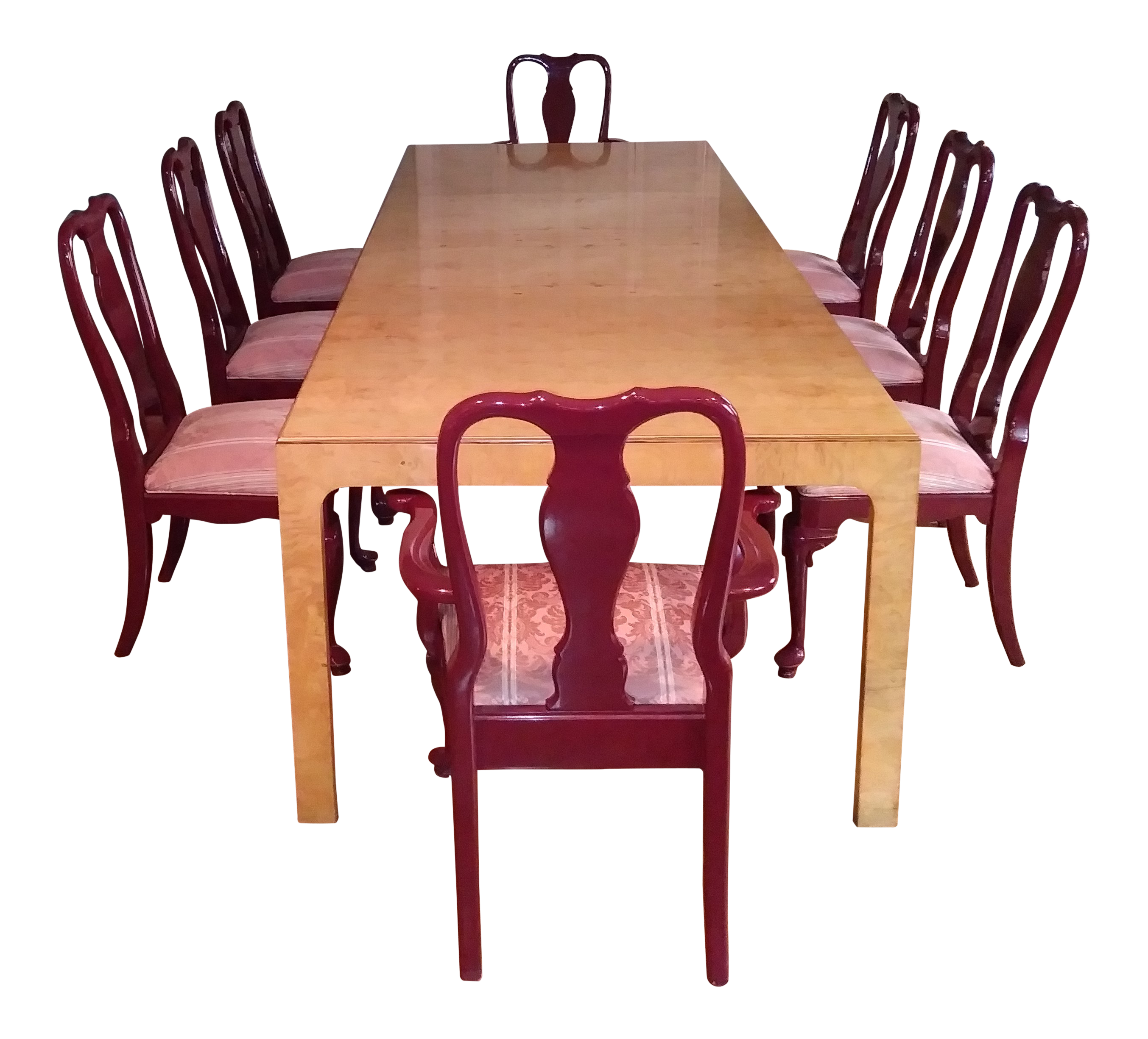 gently used henredon furniture off chairish walnut parsons table dining set wooden display accent tops and legs nautical chandelier light fixtures outside patio chairs linen