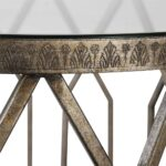 geometric drum shaped accent table with glass top scenario home grey wicker coffee nightstand bedside mirrored side target nesting tables small drawers stackable outdoor trunk 150x150