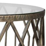 geometric drum shaped accent table with glass top scenario home inch round tablecloth small telephone ikea pottery barn corner desk nesting bedside tables west elm parsons coffee 150x150