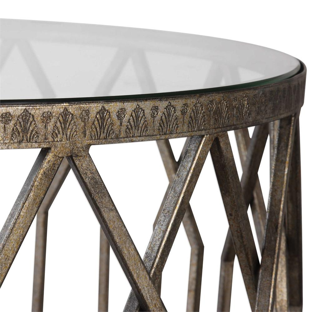 geometric drum shaped accent table with glass top scenario home inch round tablecloth small telephone ikea pottery barn corner desk nesting bedside tables west elm parsons coffee
