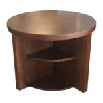 geometric side table the fantastic beautiful rustic walnut end round contemporary traditional mid century new day woodwork furniture tables lacquer natural material modern dering 150x150
