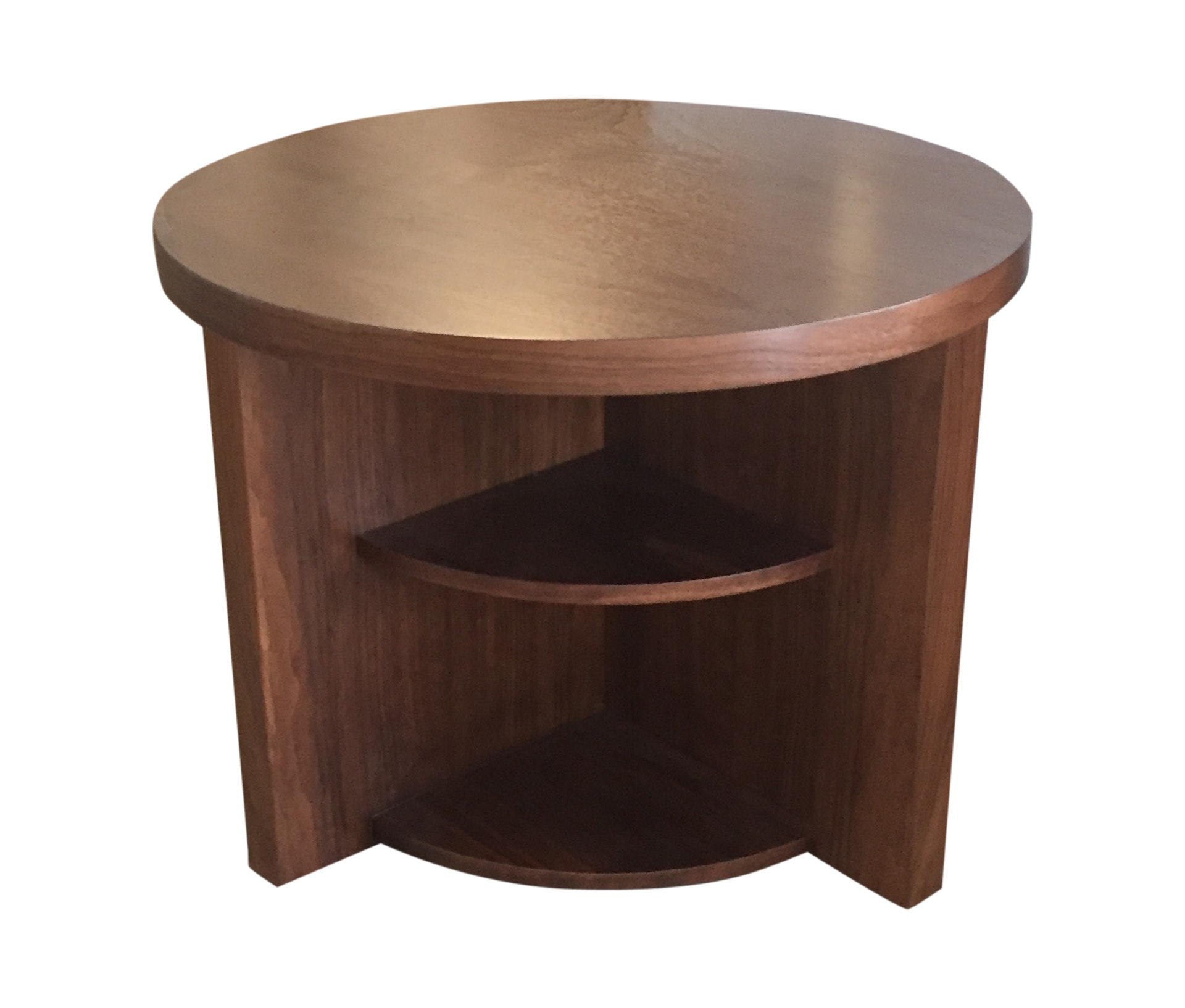geometric side table the fantastic beautiful rustic walnut end round contemporary traditional mid century new day woodwork furniture tables lacquer natural material modern dering