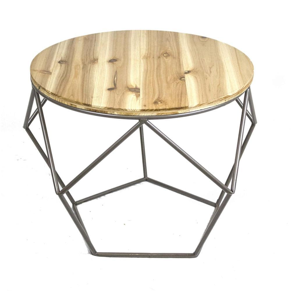 geometrical metal accent table with wood top brown and sgb black sagebrook home vintage marble bistro entryway chests cabinets gold tablecloth peva small rattan side astoria chair