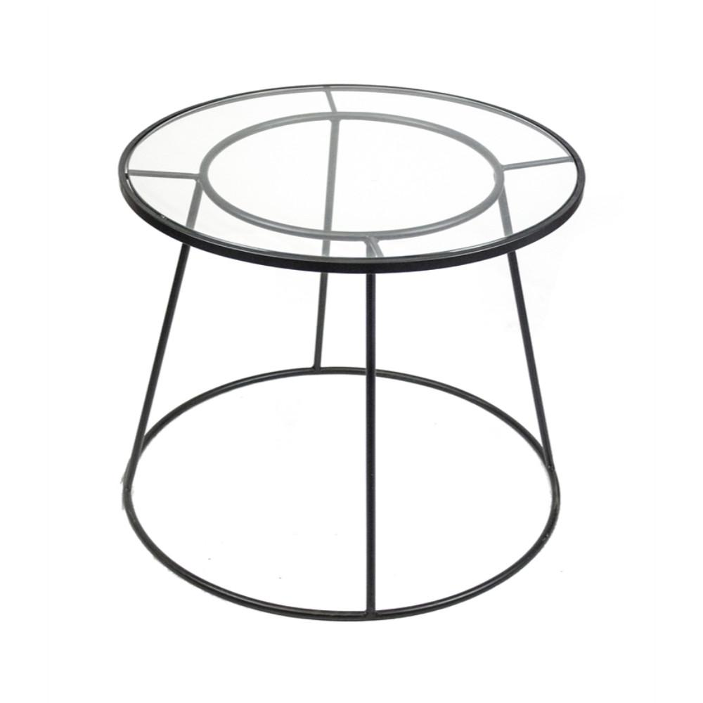 geometrically designed round metal and glass accent table black blue oriental lamps that run batteries small occasional side tables steel wood end diy top ideas light oak hallway