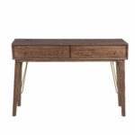 george oliver verville mid century modern two drawer accent storage console table with drawers reviews decoration ideas victorian unique home pieces wire coffee metal nic tables 150x150