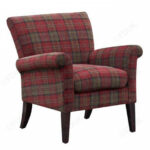 gfa balmoral claret tartan fabric accent chair furnituredirectuk large armchair pool furniture clearance dfs keeper sofa legs suppliers simple adirondack plans piece living room 150x150