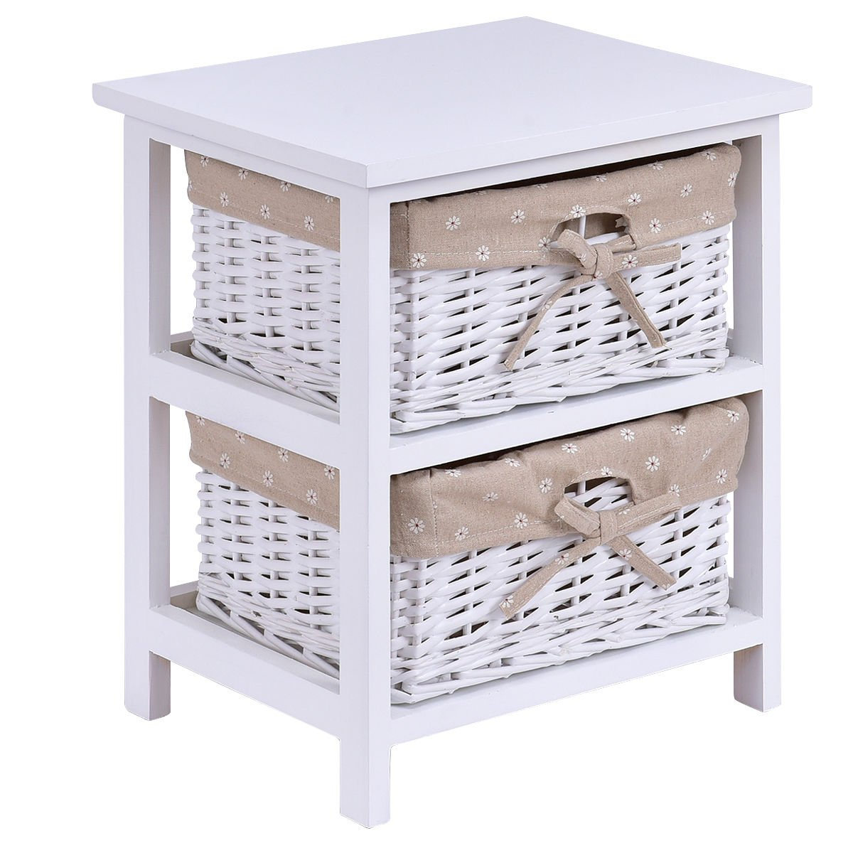 ghp white wood nightstand bedside table mawr metal accent with wicker rattan drawers kitchen dining standard side height marble coffee acrylic round small cherry mini tall lamps
