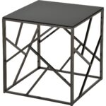 giada black glass and metal accent table free shipping today eyelet round wood end tables backyard furniture extra long antique gold trestle dining room unique small side nautical 150x150