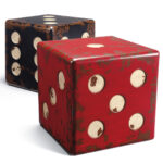 giant antique dice tables table accent game tiffany peacock floor lamp farmhouse dining beautiful coffee small night lamps duke pottery barn living room sets black wood bedside 150x150
