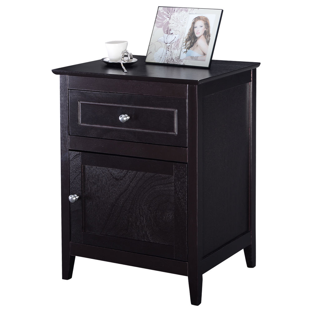 giantex accent end table modern wood bedroom nightstand living room furniture velvet chair baxter tablecloth for rectangle back patio floor threshold transitions kitchen mats
