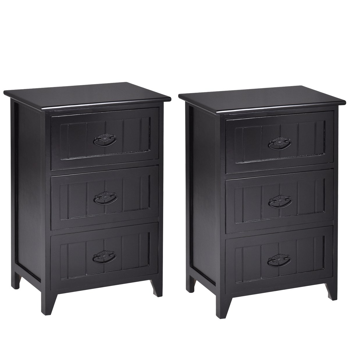 giantex drawers nightstand end table bedroom storage winsome timmy accent black solid structure and stable frame elegant style organizer wooden side bedside outdoor bar set temple