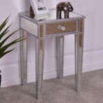 giantex mirrored accent table nightstand end luxury modern bedside storage cabinet with drawer coffee tables from furniture teal rustic contemporary glass side small white for 150x150