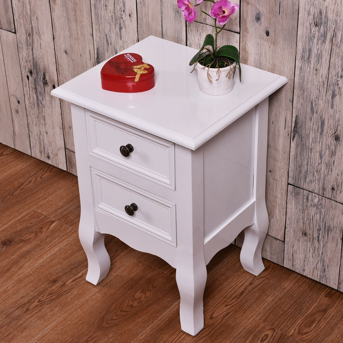 giantex white curved legs accent side end table modern nigh stand bedroom furniture with drawers nightstand tables nightstands from rustic wood patio storage outdoor pillows inch
