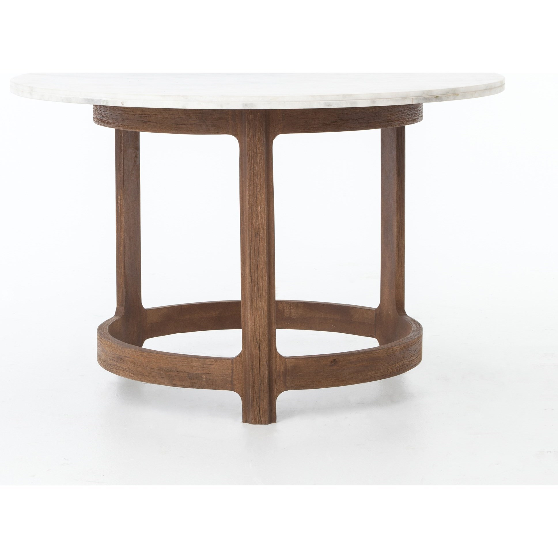 gibson bistro table with polished white marble four hands wolf products color imer accent and gardiner furniture pier one console small chair wine rack half round kitchen world