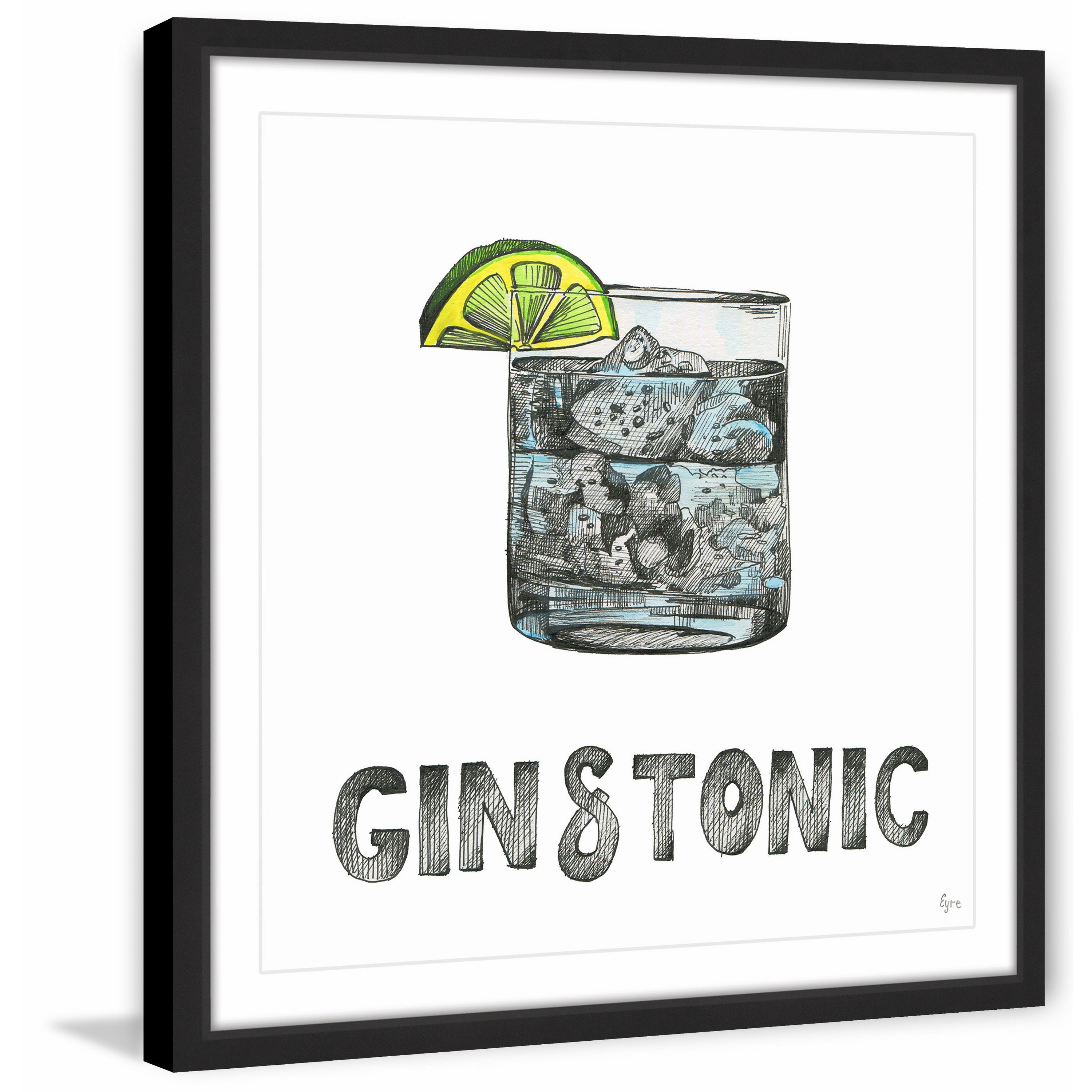 gin tonic framed painting print free shipping today uttermost cube accent table pier imports mirrors grey green paint antique side mission style tiffany lamps white resin outdoor