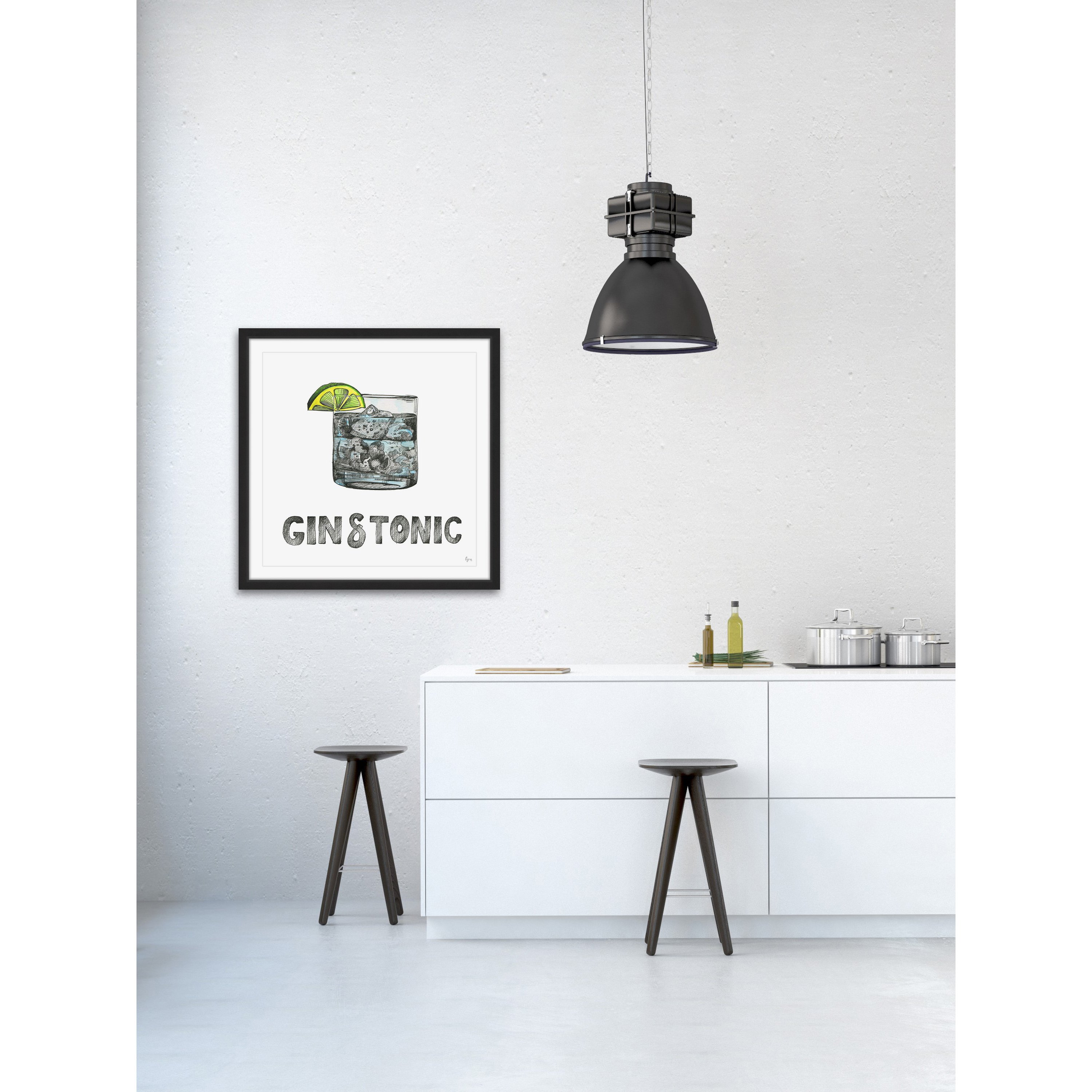 gin tonic framed painting print free shipping today uttermost cube accent table small round tablecloth mosaic dining and chairs patio console with wicker drawers black lamp end