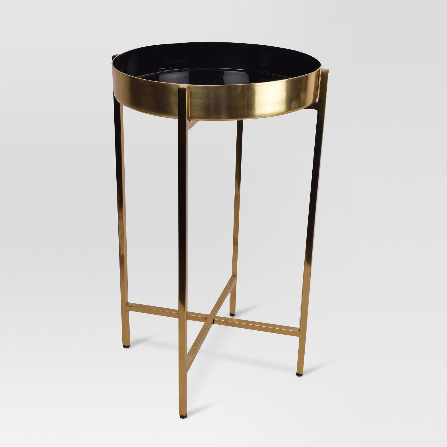 give your space fresh update with this metal accent table from target black constructed durable steel modern features gold and ombre design complete desk sofa for small living