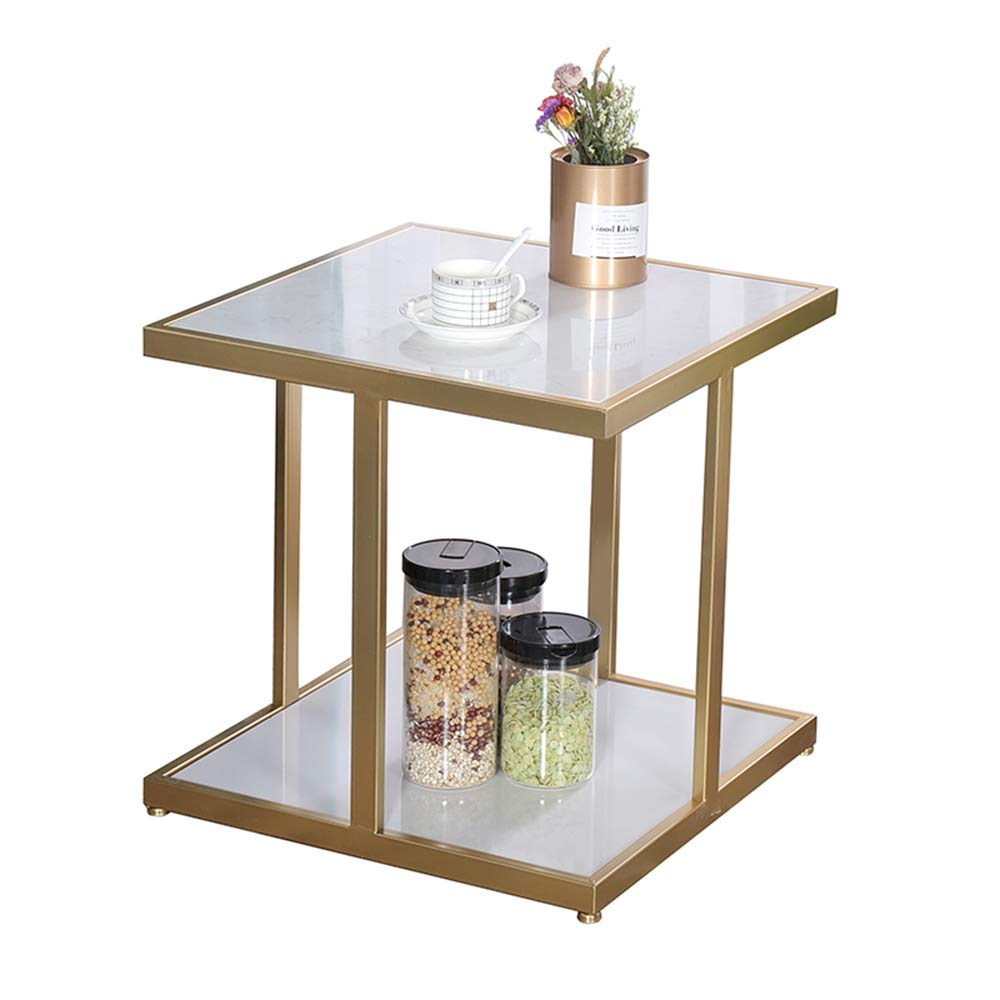 gjm square sofa side table layer marble coffee accent cabinet bedside storage shelf color white kitchen tiffany furniture living room and end tables ikea vanity lights glass with