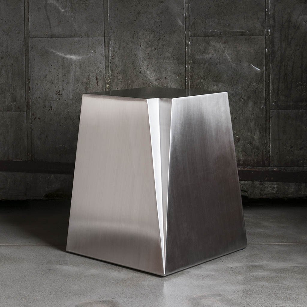 glacier end table accent tables gus modern silver gray stainless steel ashley side stand wall furniture living room short sofa rustic metal legs door floor plate oriental ceramic