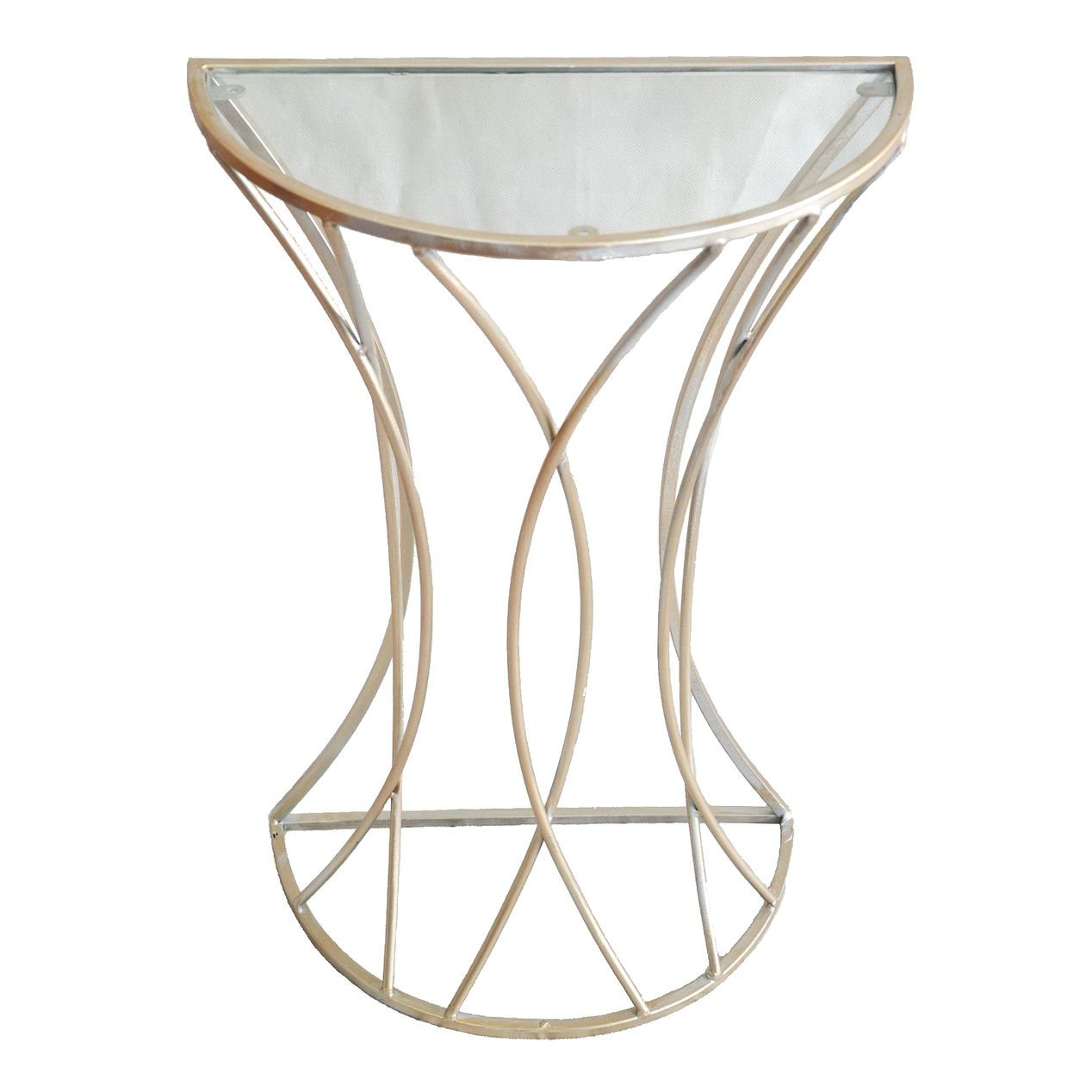 glam curve metal glass top plant stand home accent tables garden table small tub chair wooden and chairs victorian style side club end marble pair lamps pottery barn beds best