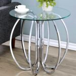 glamorous chrome finish uniquely crafted accent table with glass top simplify oval free shipping today metal garden modern lounge large umbrella stand hayworth furniture target 150x150