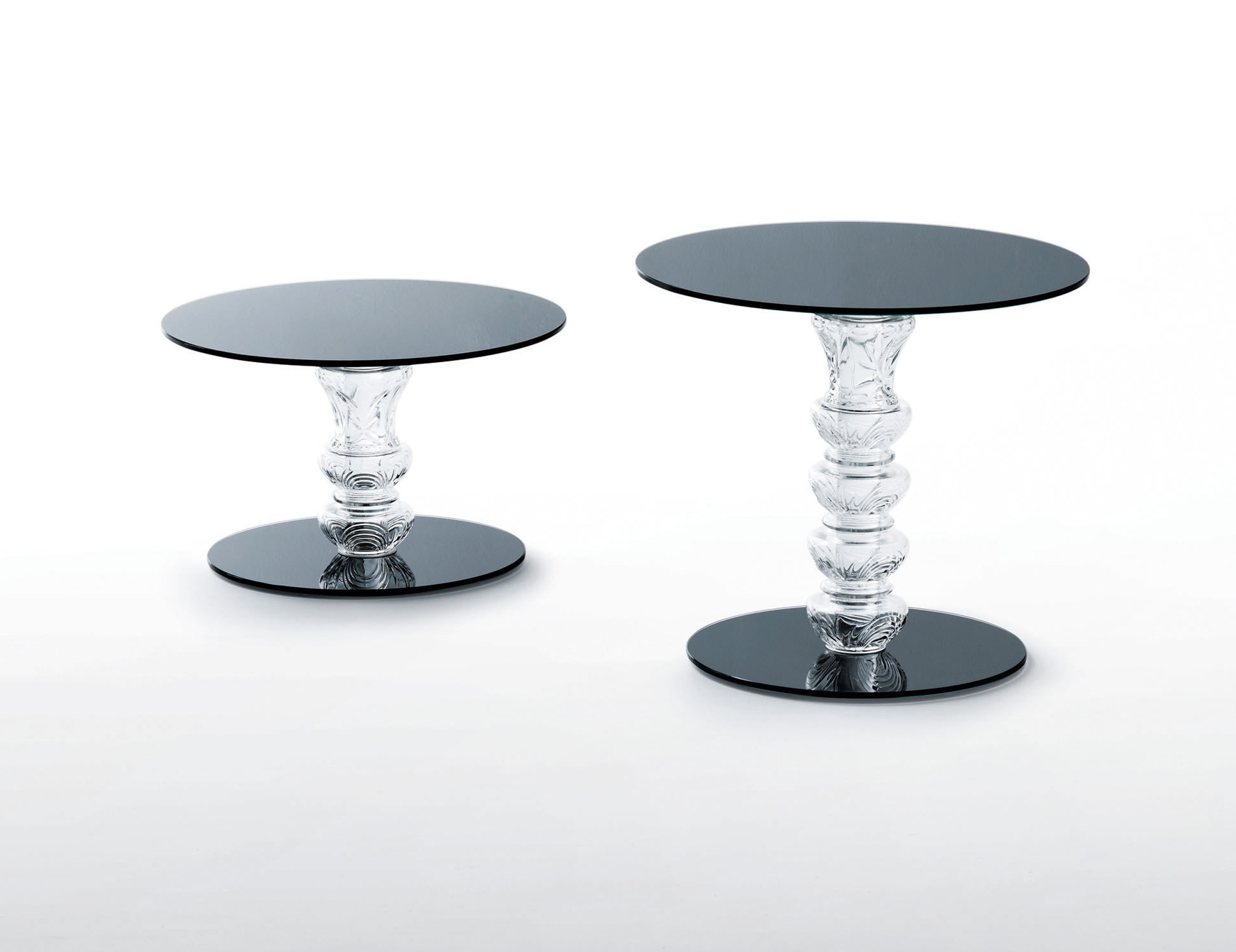 glas italia calice contemporary italian end table black glass accent tables patio sofa marble dining set bedside wall mounted side hairpin leg pottery barn white dishes folding