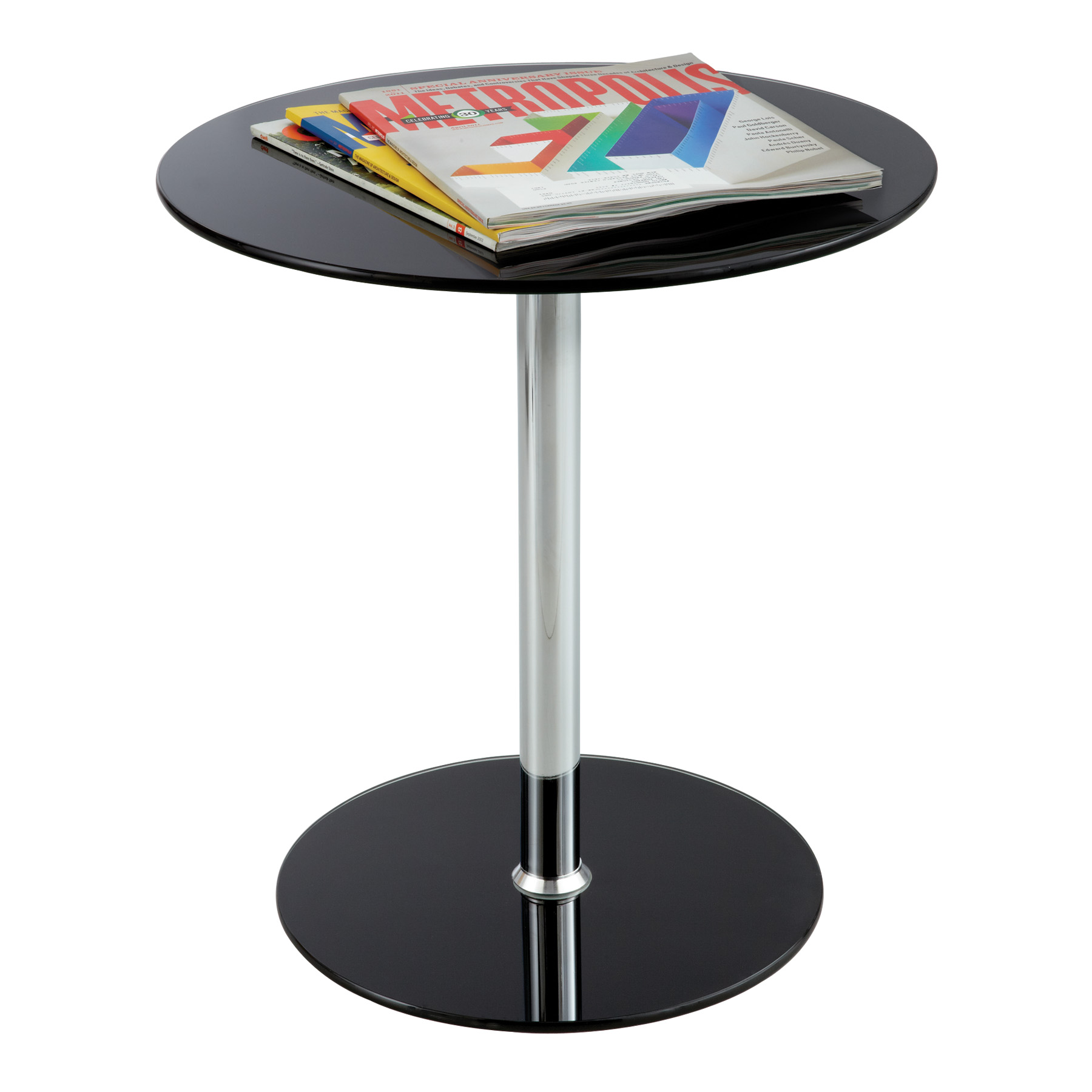 glass accent table safco products metal blue and white coffee floor mirror cherry wood bedroom furniture round real end tables mirrored with drawer packages pedestal dining cover