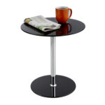 glass accent table safco products round steel and wood end tables single wine rack home furniture edmonton hallway console gold lamp sofa toronto modern coffee with drawers narrow 150x150