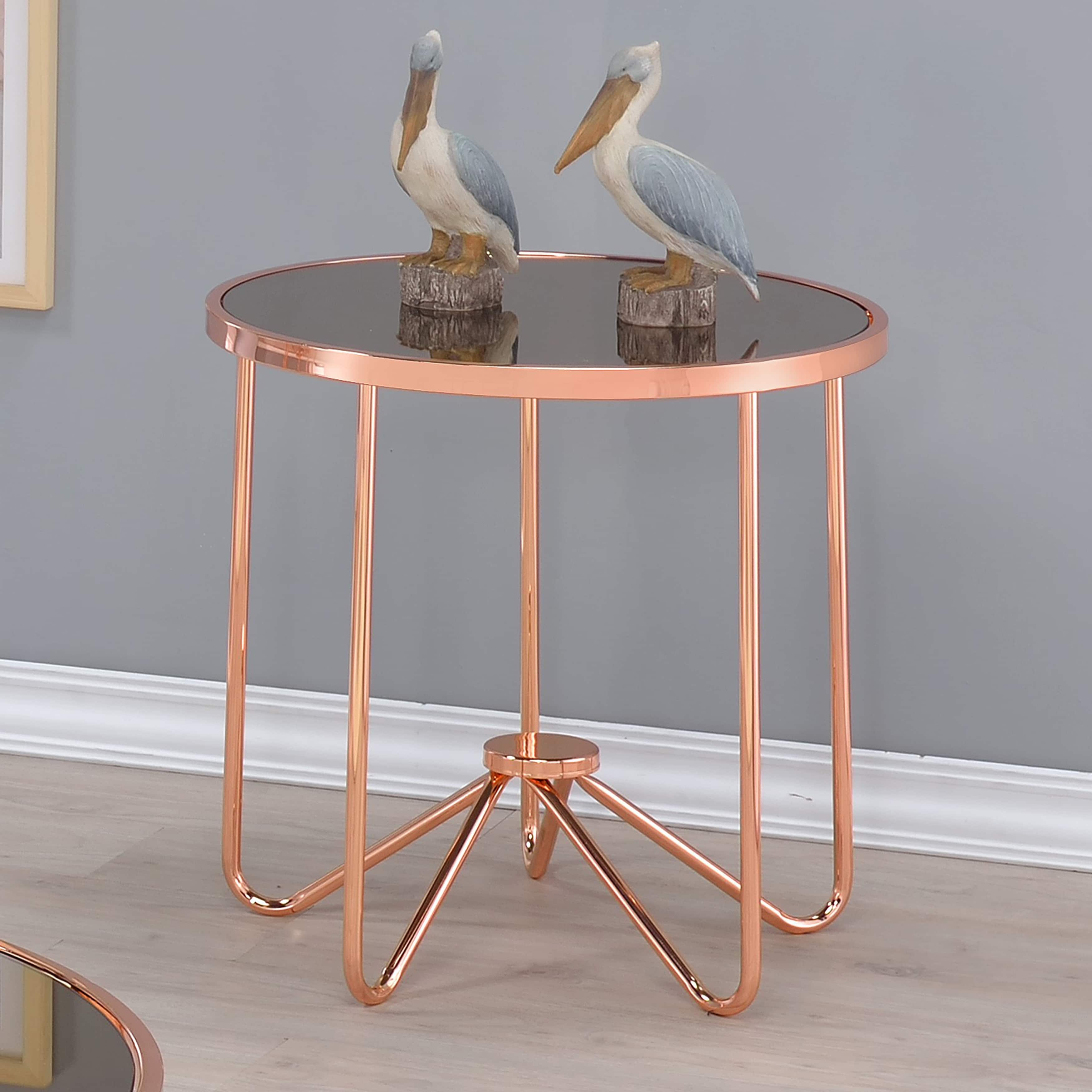 glass accent table small round tables contemporary top cylinder gray vintage crystal lamps nesting side ethan allen bedroom furniture home decorators catalog circle metal coffee