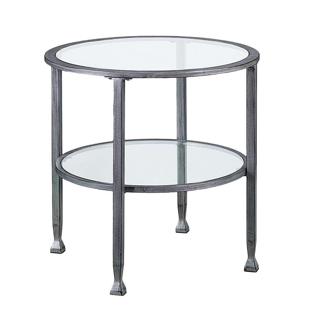 glass and metal piece nesting table set knurl accent tables two southern enterprises dina round end silvertone corner side ikea patio covers cloth runners mirror with drawers