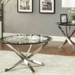 glass coffee tables that bring transparency your living room silver table luminous element accent console hallway furniture outdoor umbrella stand weights round with tablecloth 150x150