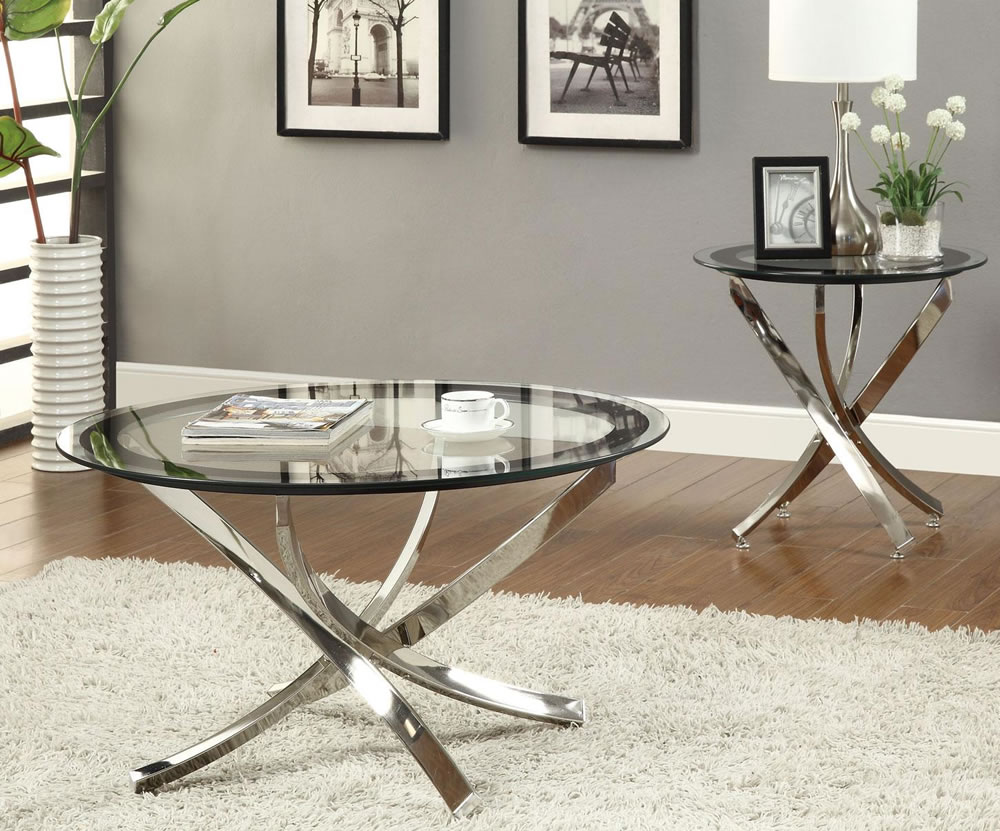 glass coffee tables that bring transparency your living room silver table luminous element accent console hallway furniture outdoor umbrella stand weights round with tablecloth