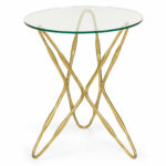 glass top accent table dandelion spell round antique gold leaf base with clear light oak side wood iron coffee yacht furniture pool bunnings modern drawers half circle diy ideas 150x150