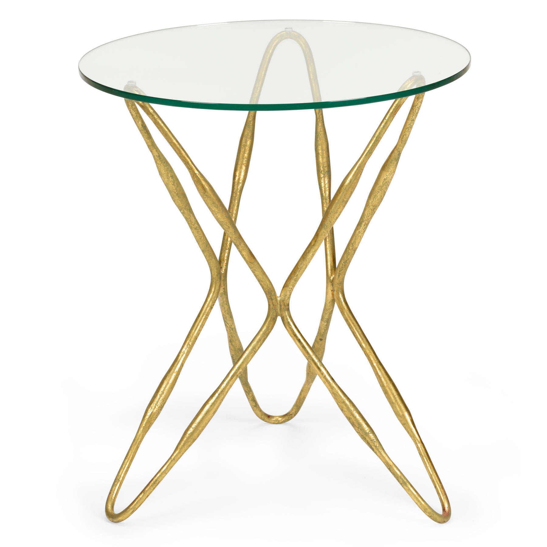 glass top accent table dandelion spell round antique gold leaf base with clear white wicker and chairs grooming utility furniture old wooden industrial look end tables square drop
