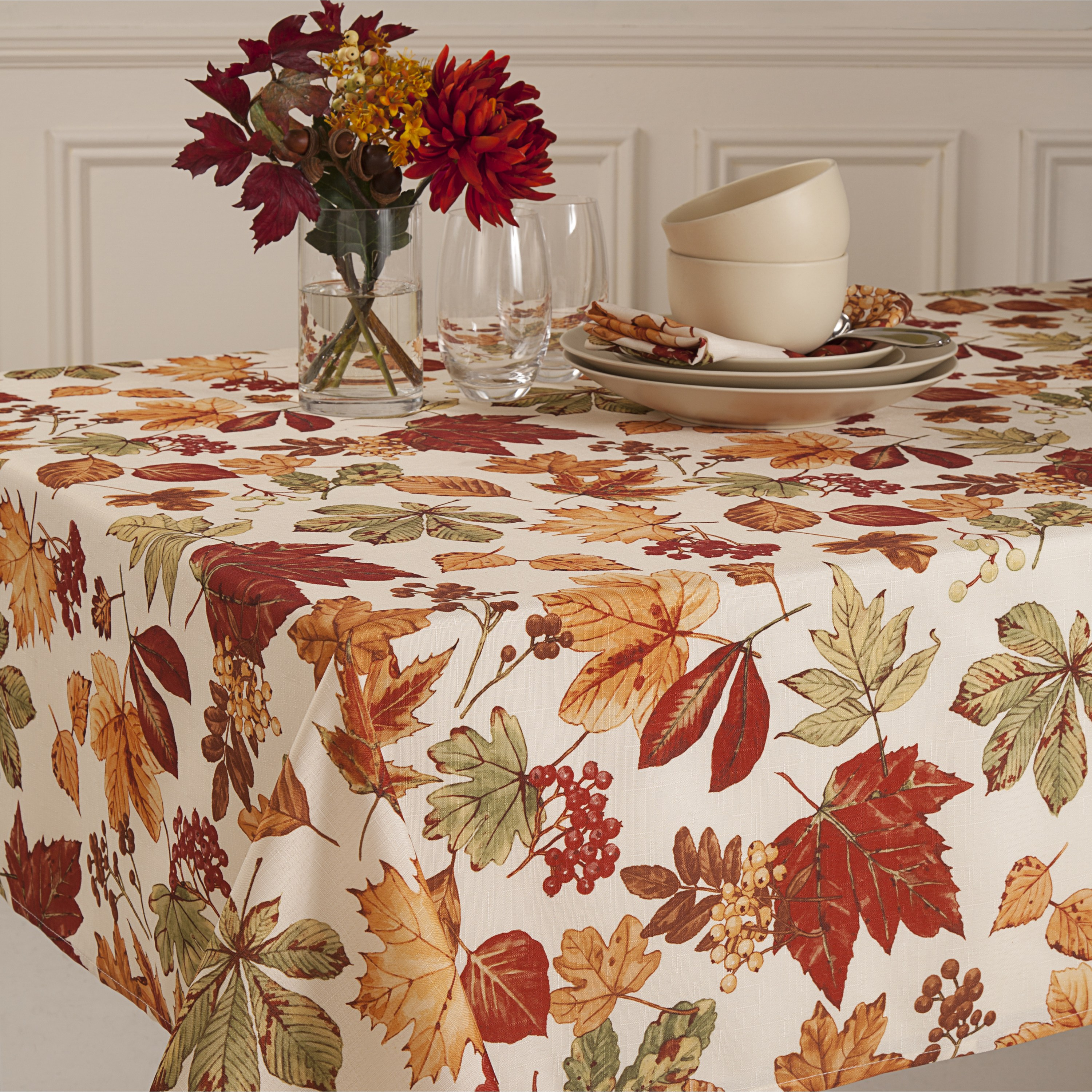 glen wood fall leaves micro fiber tablecloth free shipping round oblong accent orders over antique serving table bedside cover home interior ideas designer end tables west elm
