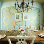 glitter and majestic panache dining rooms wrapped golden glint accent wall the room with dose dazzle gold table gallery mango wood caldwell furniture all weather outdoor rattan 150x150