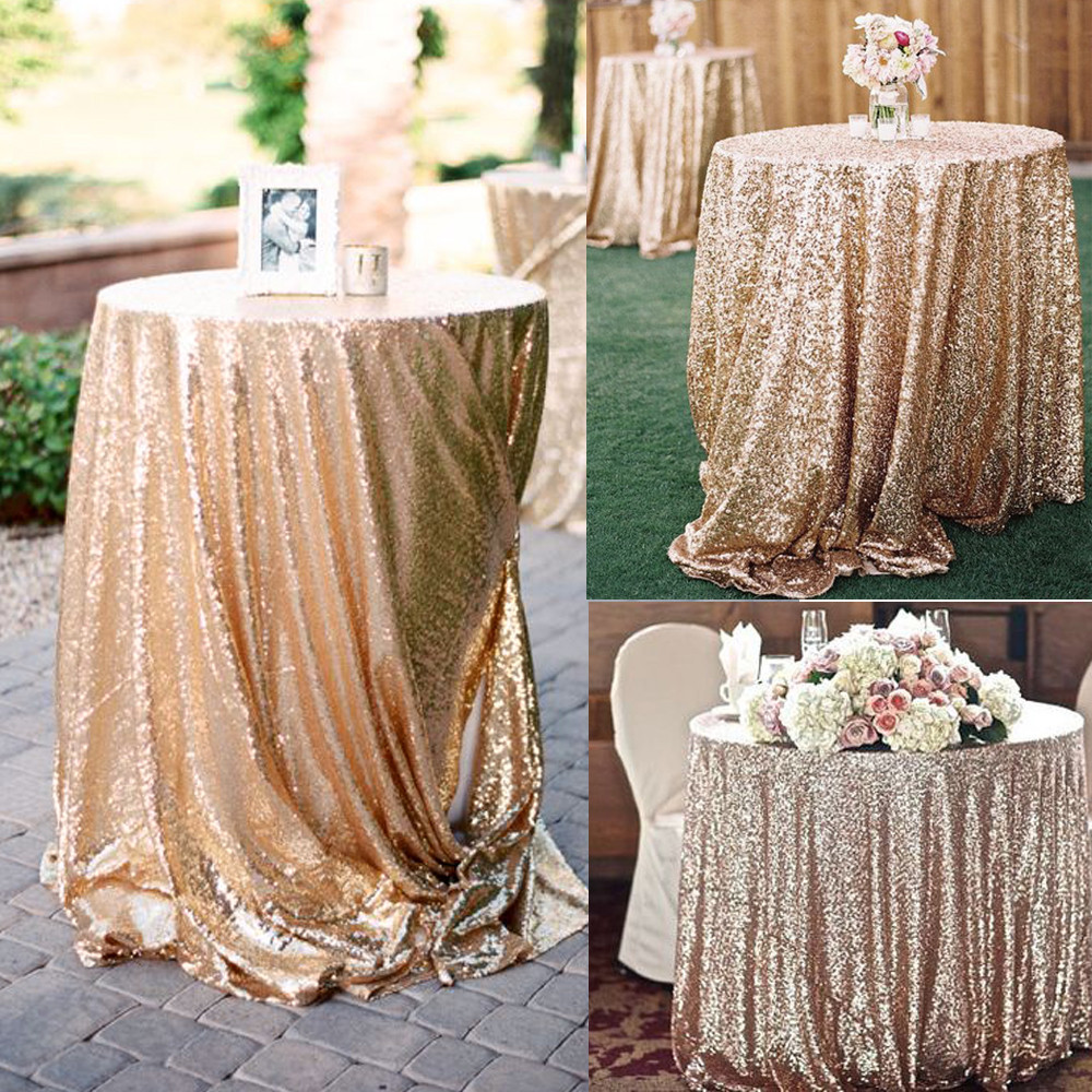 glitter sequin tablecloth rectangular round rose gold silver table for inch accent cloth wedding party christmas pub height and chairs bulk tennis balls chair cushions ottawa