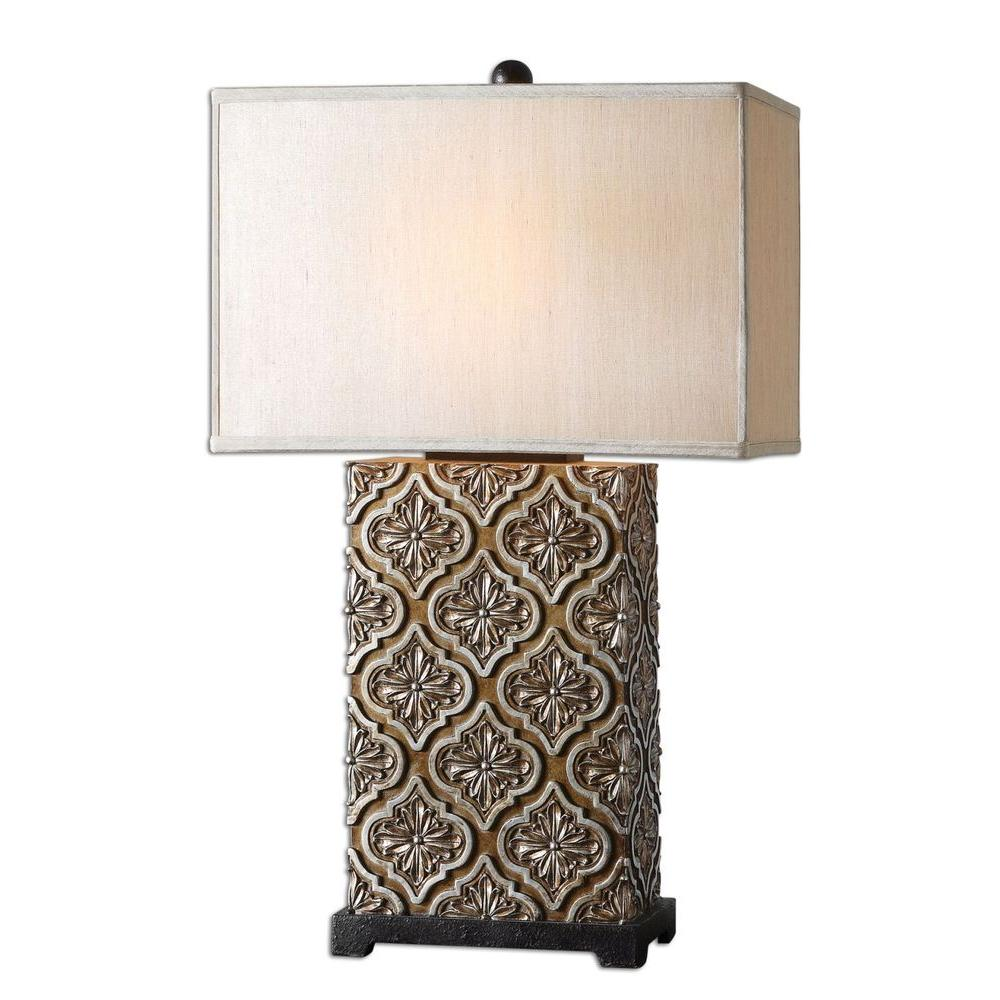 global direct curino golden bronze table lamp the stain with silver champagne accents and rustic black details lamps accent reclining living room sets bench small antique drop