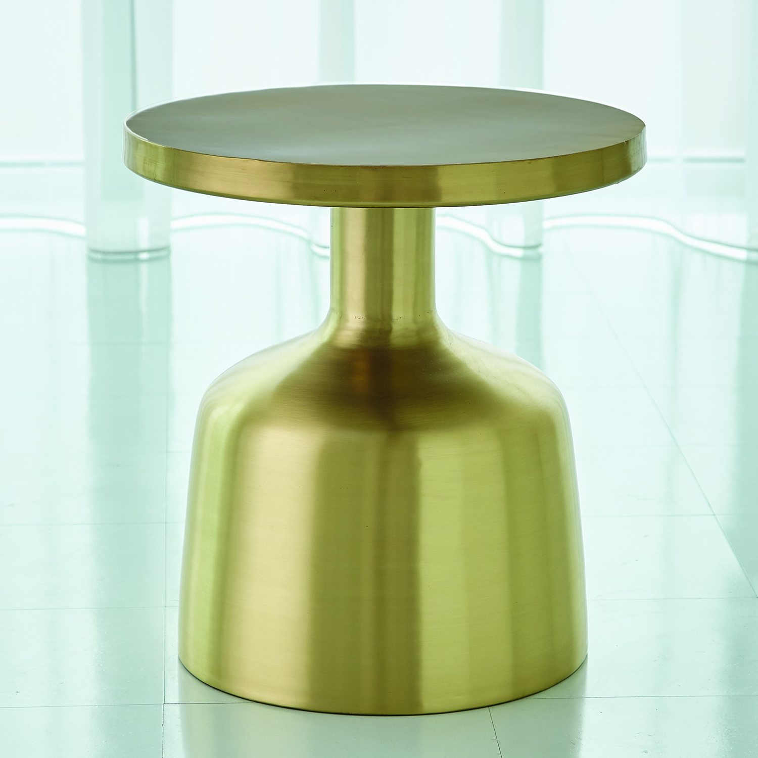 global views studio neutra satin brass accent table bellacor green metal hover zoom marble steel coffee hobby lobby craft clear and gold piece chair set wood bedside dark console