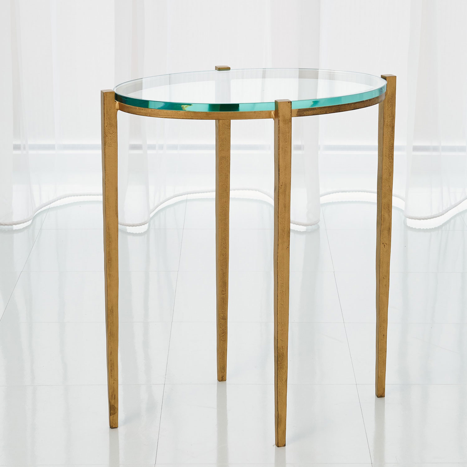 global views studio petite oval antique gold accent table rustic metal and wood end tables distressed gray tall occasional drop leaf folding cement base round tablecloth pattern