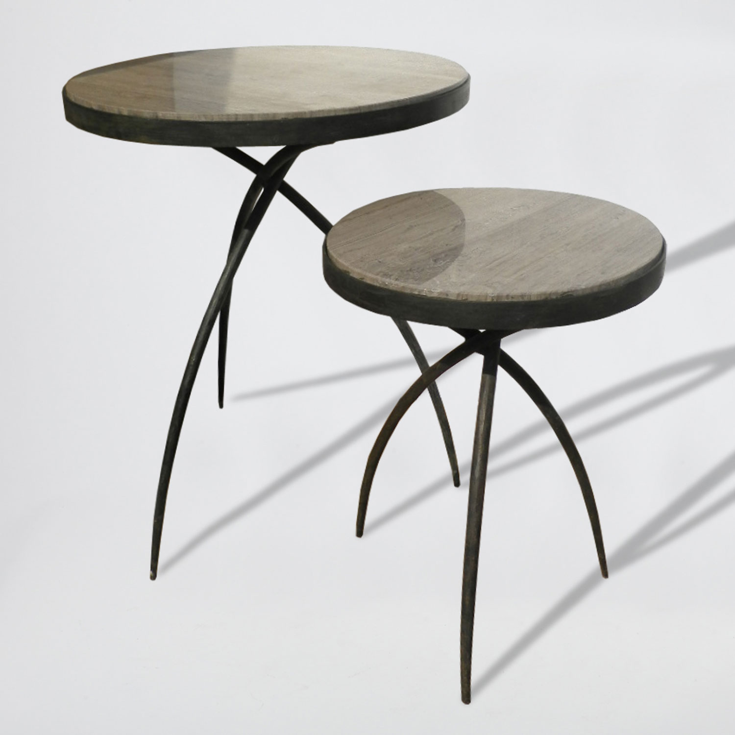 global views studio tripod small gray top accent table marble inch round tablecloth glass nesting tables corner nightstand ethan allen coffee and end outside cocktail copper