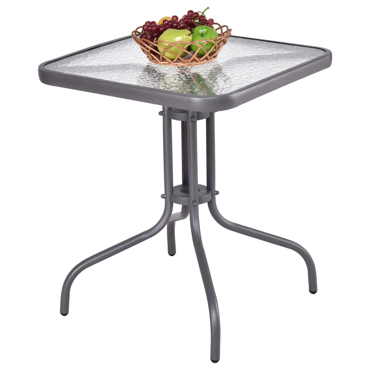 globe house products ghp lbs weight capacity mdf img php zaltana mosaic outdoor accent table tangkula patio garden yard lawn indoor tempered glass top steel frame coffee mid