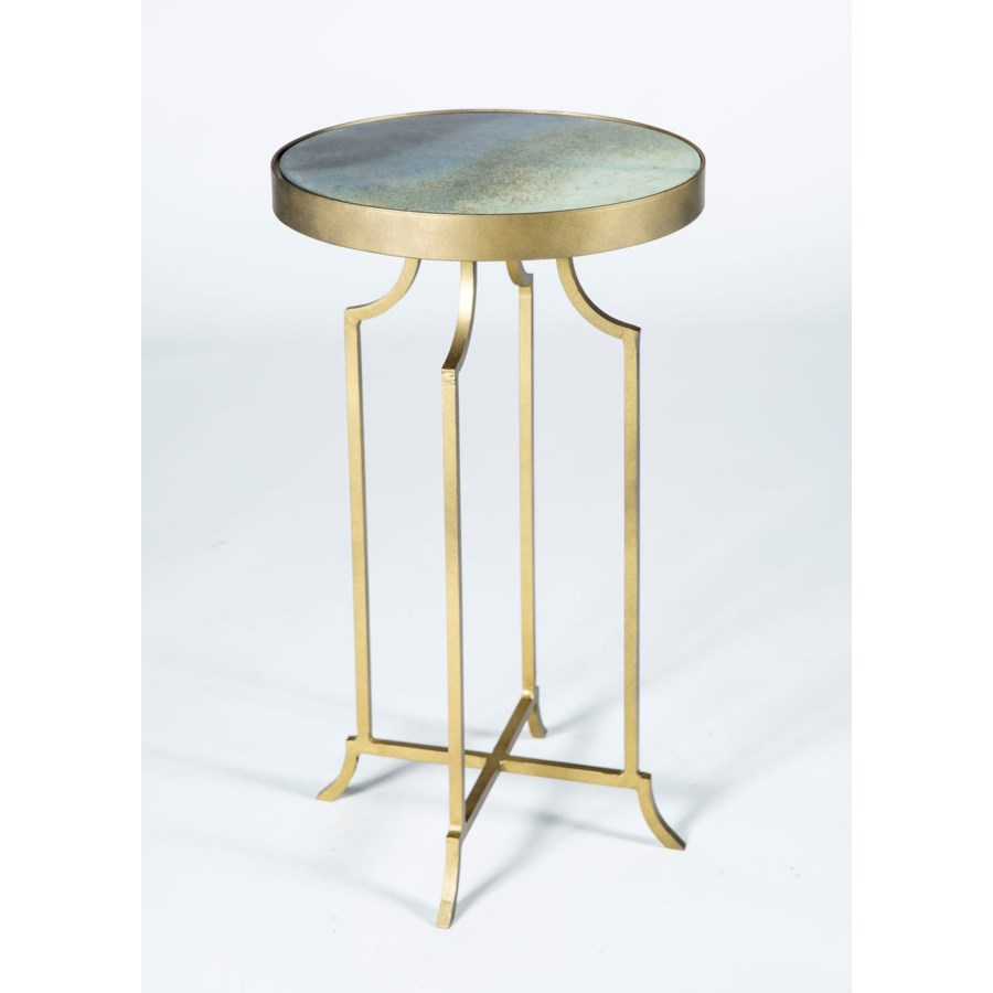 gloria accent table antique brass with solid amythest glass finish pottery barn dining bench standing lamp side design for bedroom long thin wooden patio chairs nautical items