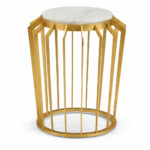 gold accent table dandelion spell wood drum side target patio stylish lamps pier one candles coffee brentwood furniture silver narrow end small teak stump outdoor iron folding 150x150